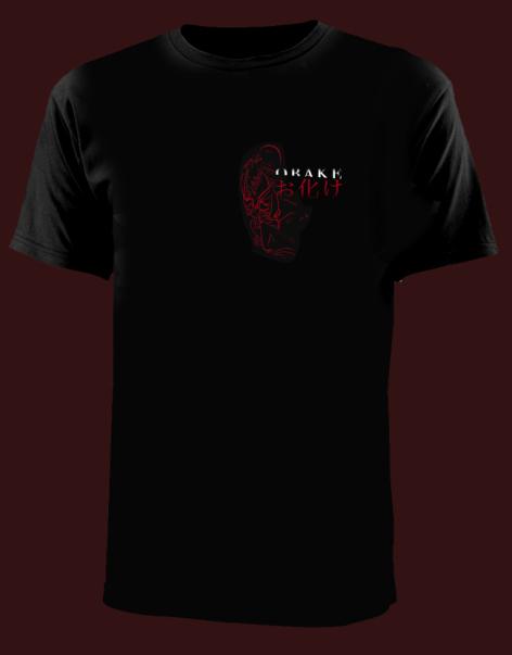 black obake tshirt
